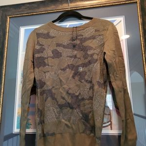 Expresswoman's camouflage sparkly long sweate
